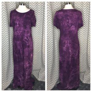 💥 Lularoe Maria tie dye purple Xl